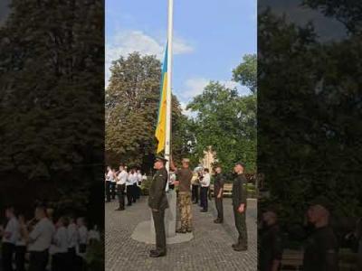 Вбудована мініатюра для Церемонія підняття прапора України відбулася на площі Народній в Ужгороді